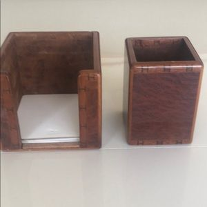 Auth Hermès note pad and pencils holder cup